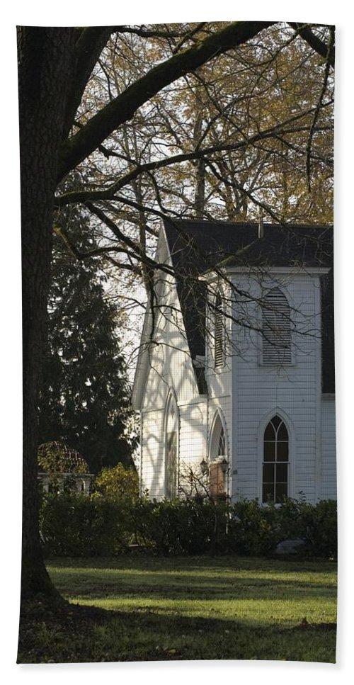 Church Hand Towel featuring the photograph The White Church by Sara Stevenson
