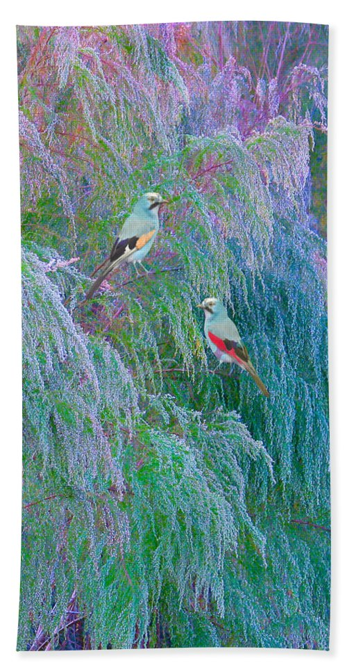 Fantacy Hand Towel featuring the digital art The Willows by Adele Moscaritolo