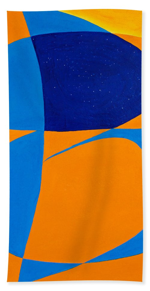 Abstract Hand Towel featuring the painting The Word Be by Lee Serenethos