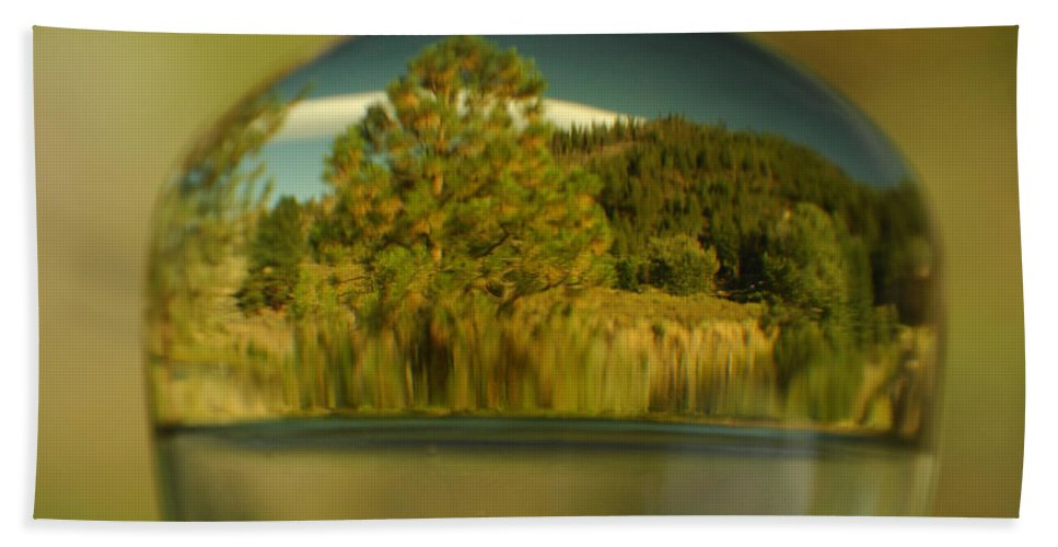Reflection Hand Towel featuring the photograph The World In Reflection by Donna Blackhall