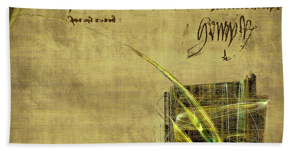 Ink Hand Towel featuring the painting The Writing On The Wall by RC DeWinter