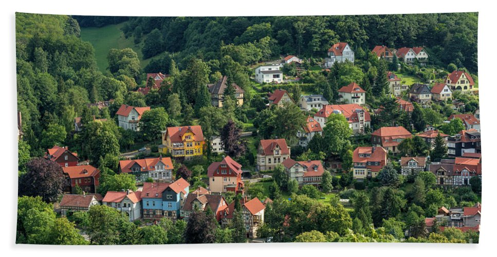 Yellow House Hand Towel featuring the photograph The Yellow House by MSVRVisual Rawshutterbug