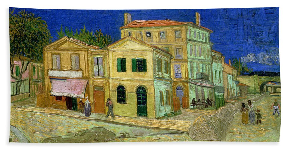 The Yellow House Hand Towel for Sale by Vincent