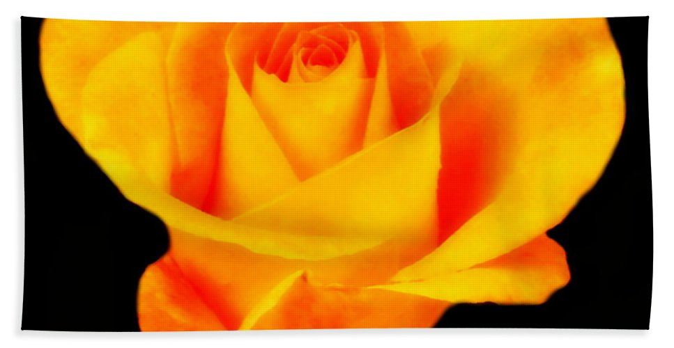 Flowers Bath Sheet featuring the photograph The Yellow Rose by Myrna Bradshaw