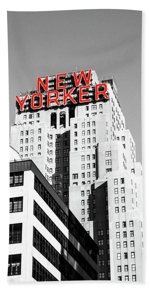New York City Hand Towel featuring the photograph The Yorker by DA Photography