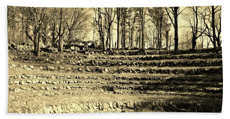Rocks Hand Towel featuring the photograph Theater Seating by Karen Silvestri