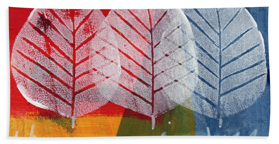 Abstract Hand Towel featuring the painting There Is Joy by Linda Woods