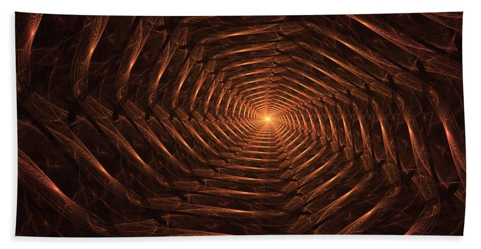 Fantasy Hand Towel featuring the digital art There Is Light At The End Of The Tunnel by David Lane
