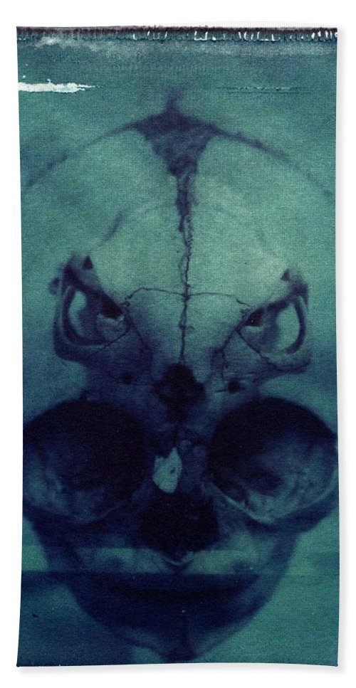 Skull Hand Towel featuring the photograph There by Jane Linders