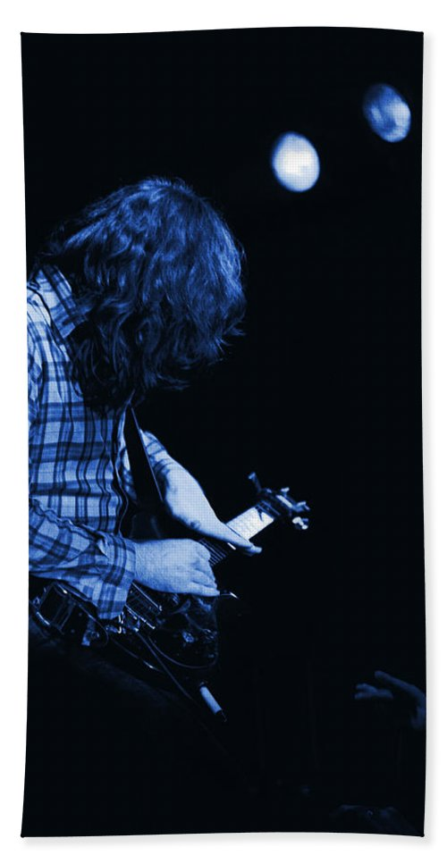 Rock Musicians Bath Sheet featuring the photograph There's A Blue Light by Ben Upham