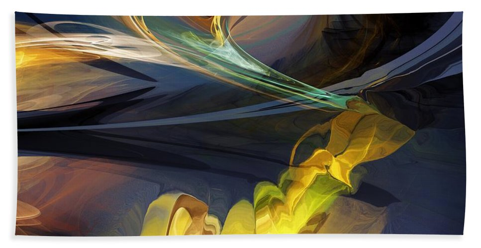 Fine Art Bath Sheet featuring the digital art They Are Out There by David Lane