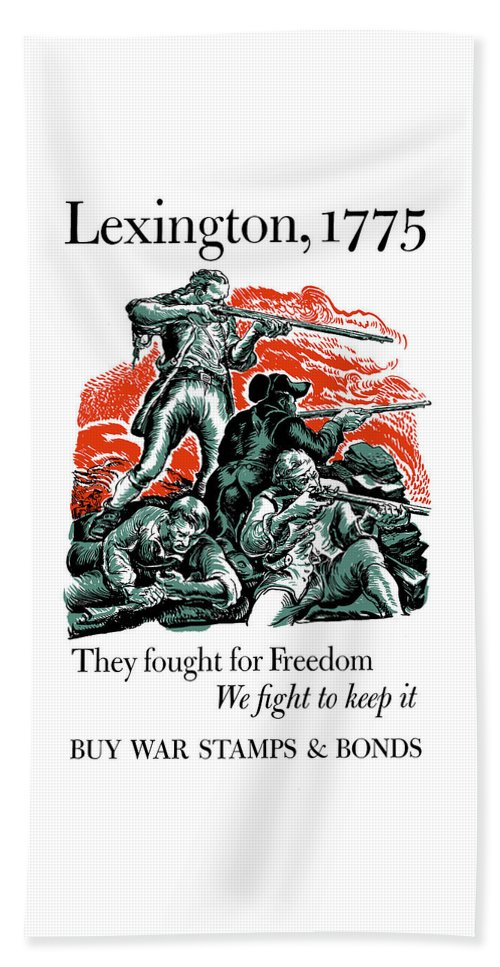 Minutemen Bath Sheet featuring the painting They Fought For Freedom - We Fight To Keep It by War Is Hell Store