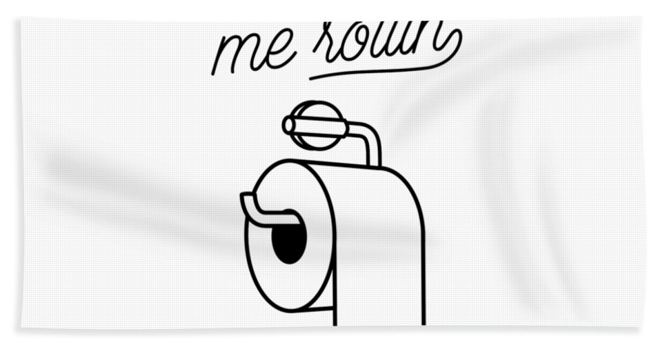 Hand Towel featuring the digital art They See Me Rollin' by The Crown Prints