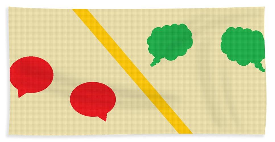 Digital Art Bath Sheet featuring the digital art Think Before You Speak by Aj