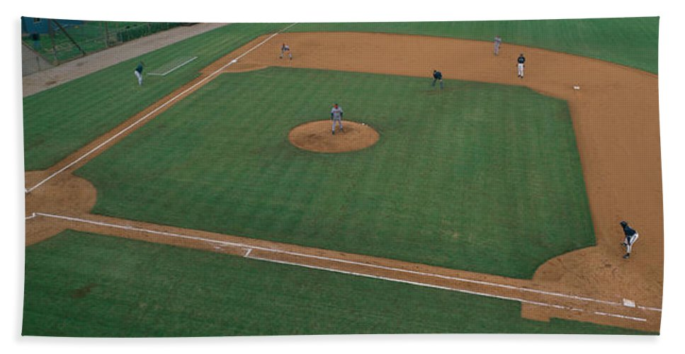 Photography Bath Sheet featuring the photograph This Is Bill Meyer Stadium. There by Panoramic Images