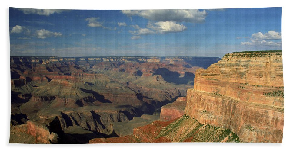 Grand Canyon Bath Towel featuring the photograph This Is My Father's World by Kathy McClure