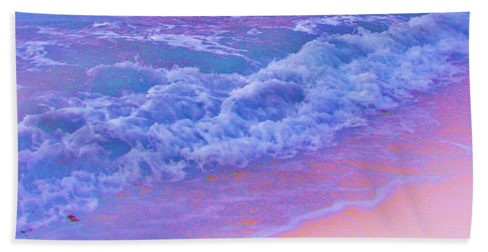 Contemporary Hand Towel featuring the photograph This Is One Hot Beach by Margaret Bobb