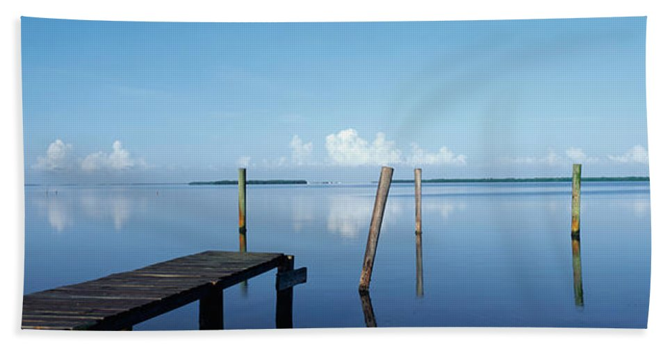 Photography Bath Sheet featuring the photograph This Is The Morning View Of Pine Island by Panoramic Images