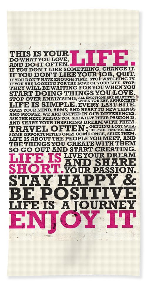 This Is Your Life Do What You Love Inspirational Quotes Poster Bath Mesmerizing This Is Your Life Quote Poster