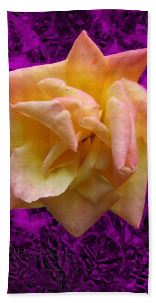 Rose Bath Sheet featuring the digital art This Rose For You by Tim Allen