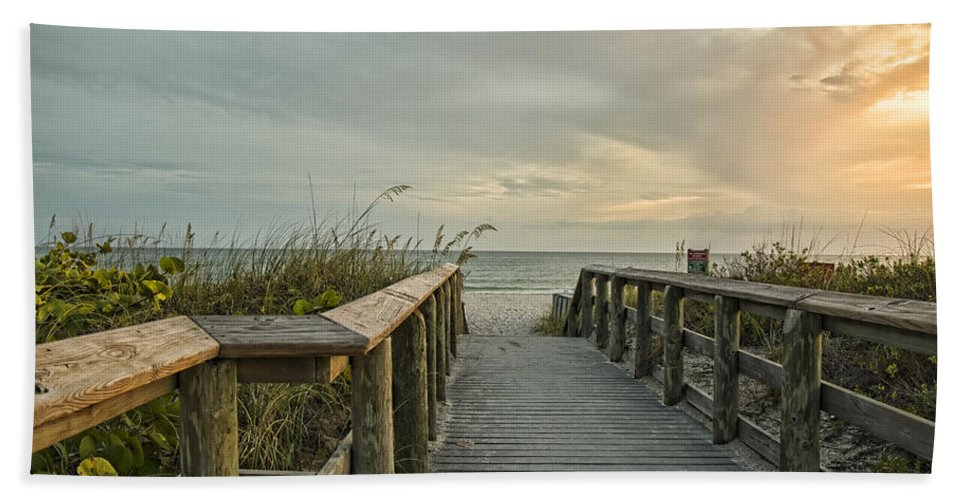 Beach Hand Towel featuring the photograph This Way To The Beach by Shari Jardina