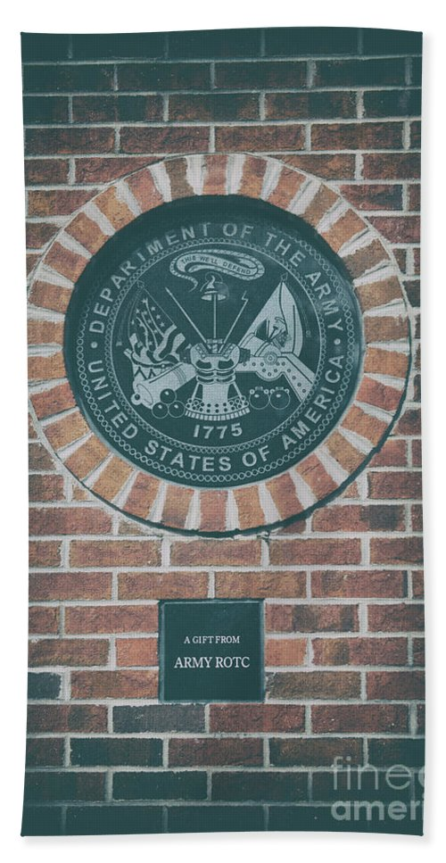 Department Of The Army Hand Towel featuring the photograph This We'll Defend by Dale Powell