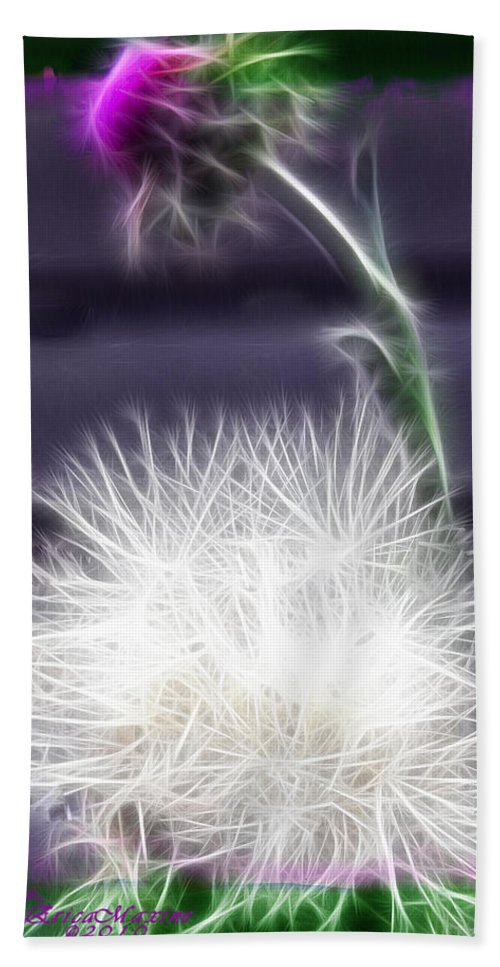 Plant Hand Towel featuring the photograph Thistle by Ericamaxine Price