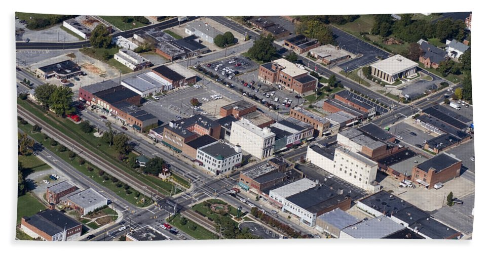 Thomasville Bath Sheet featuring the photograph Thomasville Nc Aerial by Robert Ponzoni