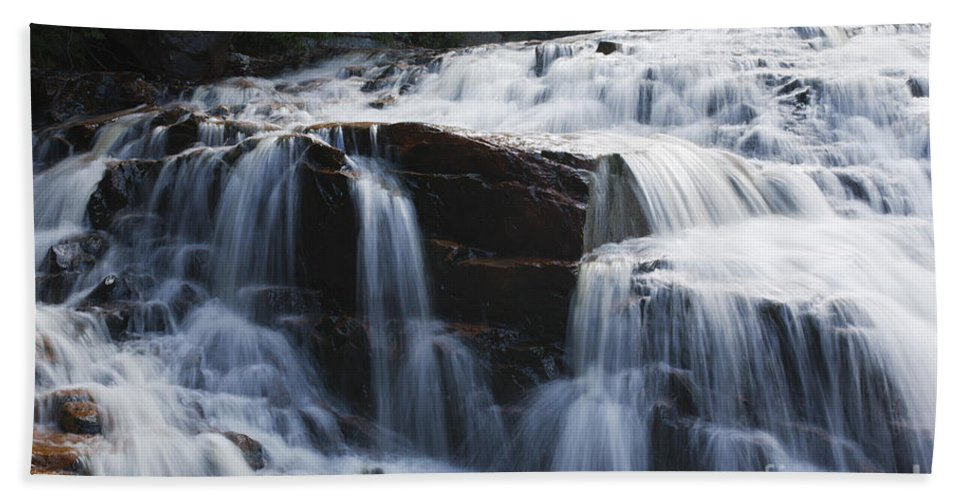 White Mountain National Forest Bath Sheet featuring the photograph Thoreau Falls - White Mountains New Hampshire Usa by Erin Paul Donovan