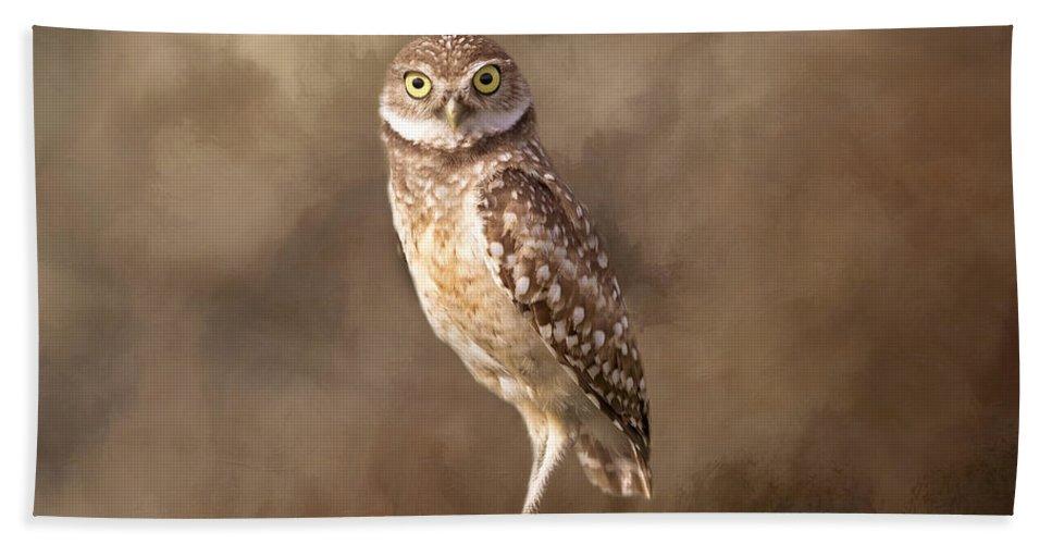 Owl Bath Sheet featuring the photograph Those Golden Eyes by Kim Hojnacki
