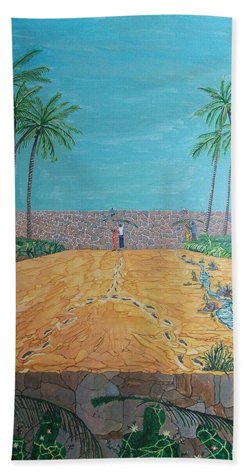 Surreal Hand Towel featuring the painting Those Who Were, Those Who Are And Those Who Will Be... by Lazaro Hurtado