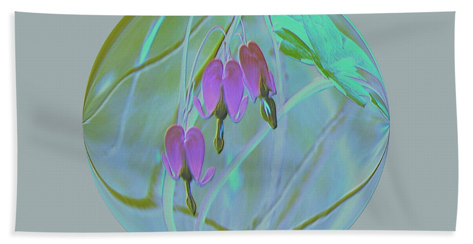 Flowers Hand Towel featuring the photograph Three Hearts by Jeff Swan