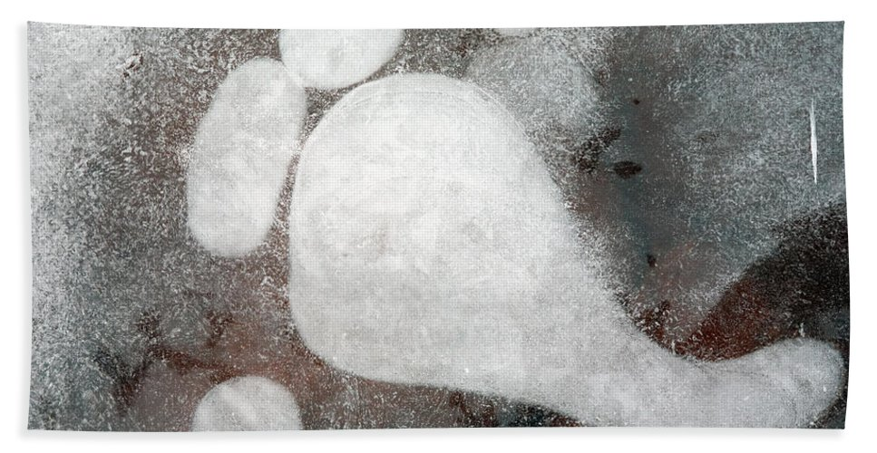 Ice Hand Towel featuring the photograph Three Toes by Mike Dawson