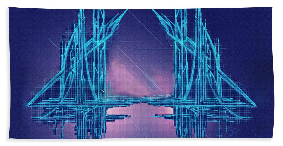 Abstract Hand Towel featuring the digital art Threshold by Don Quackenbush