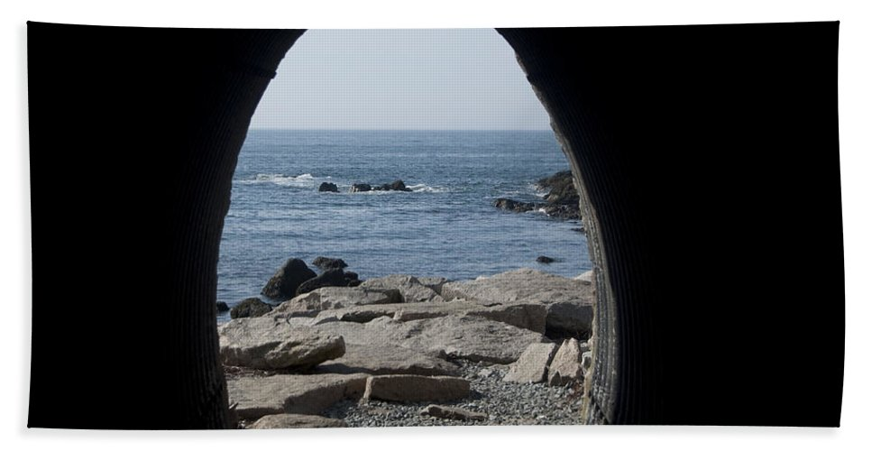 Tunnel Bath Sheet featuring the photograph Through The Tunnel by Steven Natanson
