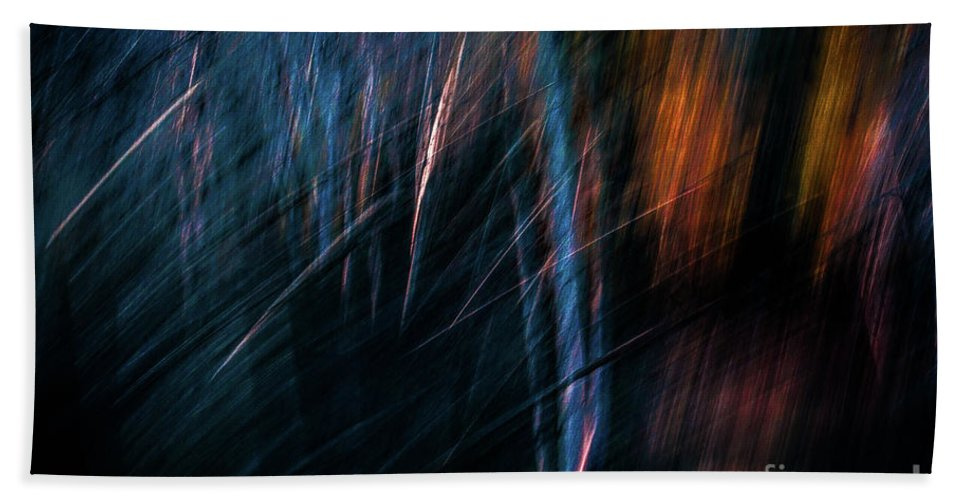 Woods Hand Towel featuring the photograph Through The Woods by Doug Sturgess