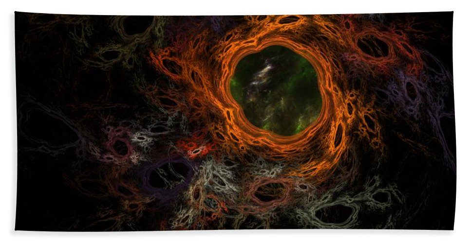 Fantasy Hand Towel featuring the digital art Through The Worm Hole by David Lane