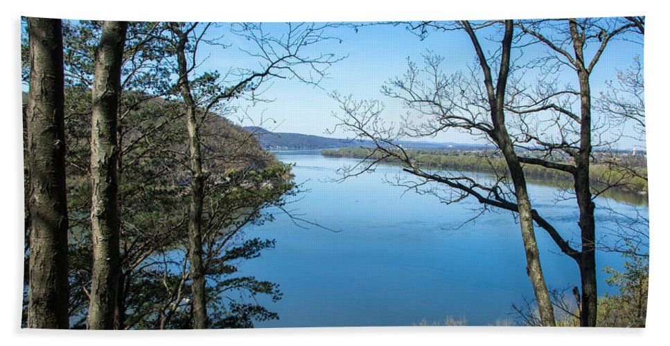 River Hand Towel featuring the photograph Through To The Susquehanna by Jennifer Wick
