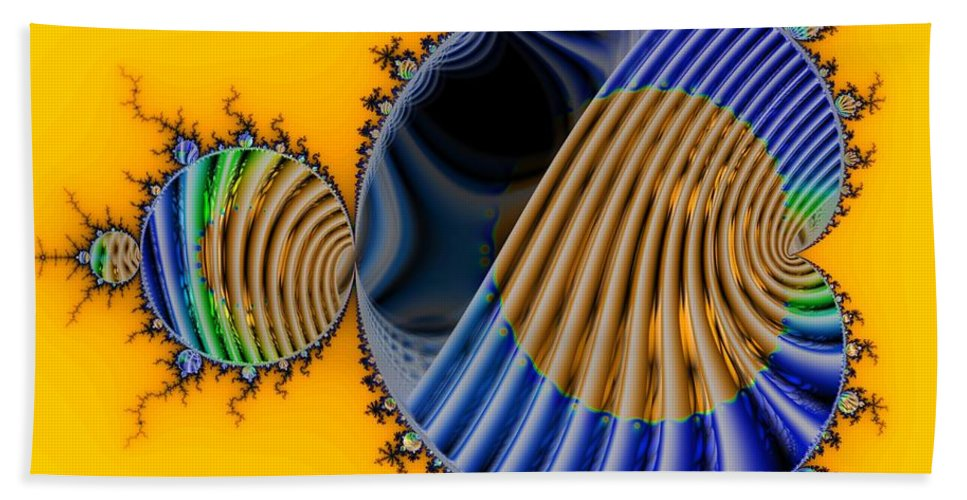 Julia Fractal Bath Sheet featuring the digital art Thru A Julia Lens by Ron Bissett