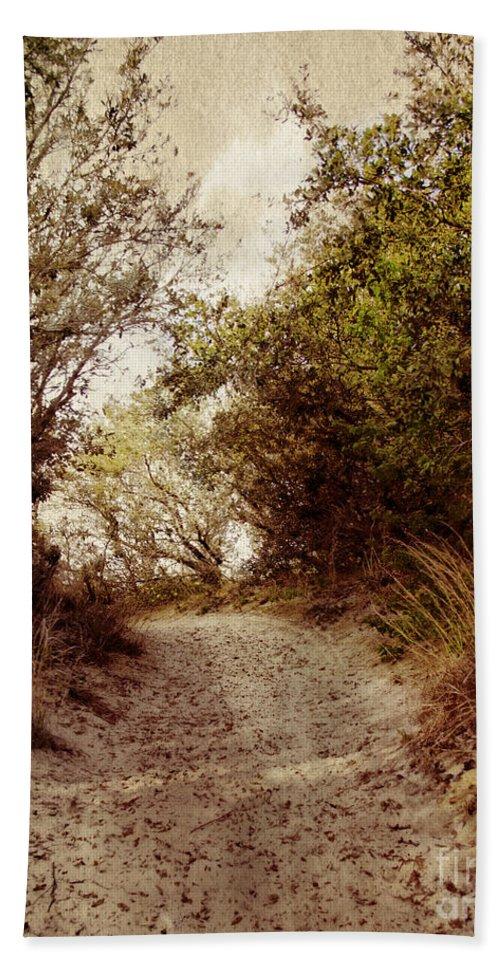 Ridge Bath Sheet featuring the photograph Thru The Dunes by Tom Gari Gallery-Three-Photography
