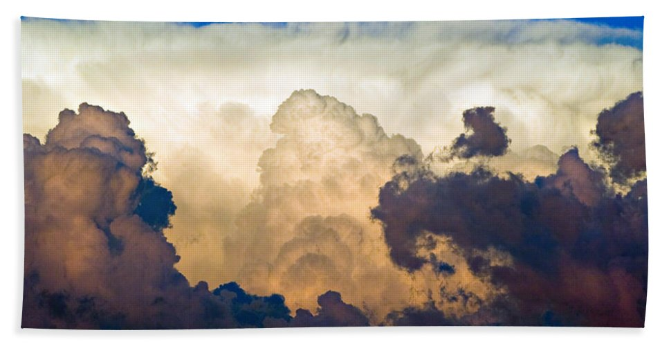 Thunderhead Bath Sheet featuring the photograph Thunderhead Cloud Color Poster Print by James BO Insogna