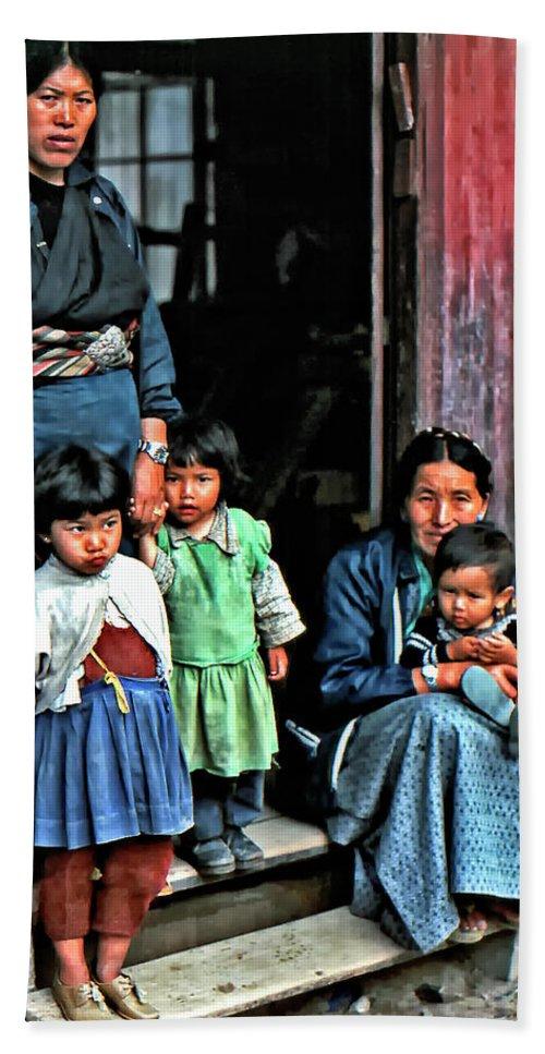 Darjeeling Hand Towel featuring the photograph Tibetan Refugees by Steve Harrington