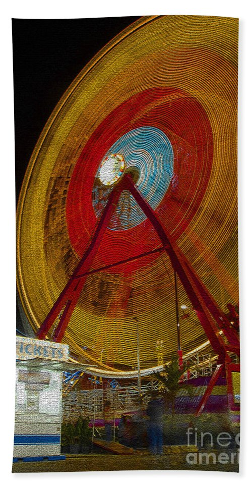 Amusement Ride Bath Sheet featuring the photograph Tickets by David Lee Thompson