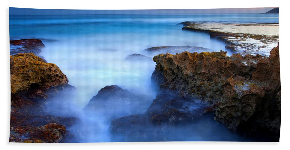 Pennington Bay Hand Towel featuring the photograph Tidal Bowl Boil by Mike Dawson