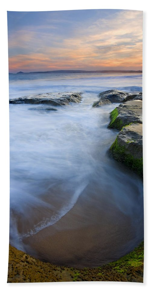 Beach Hand Towel featuring the photograph Tidal Bowl by Mike Dawson