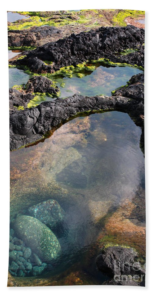Shore Hand Towel featuring the photograph Tidal Pool by Gaspar Avila