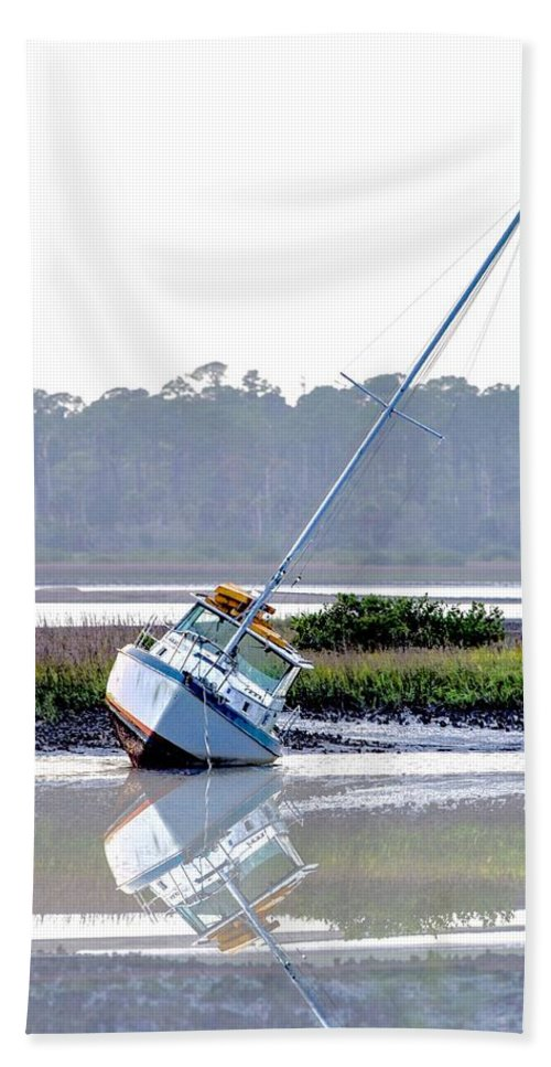 Sailboat Hand Towel featuring the photograph Tide Over by Janal Koenig