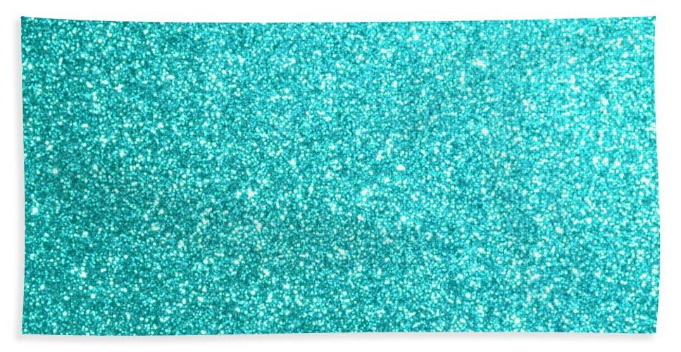c3c987ebcd8 Aqua Bath Towel featuring the digital art Tiffany Aqua Blue Glitter by Pod  Artist