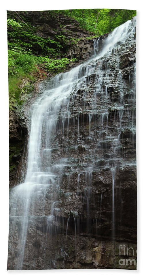 Waterfall Bath Sheet featuring the photograph Tiffany Falls by Oleksiy Maksymenko
