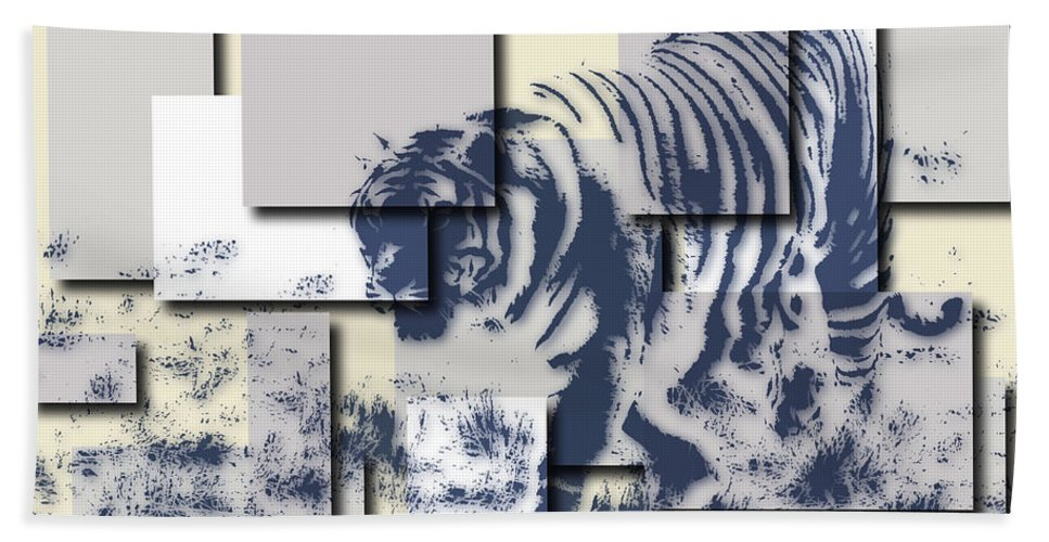 Tiger Hand Towel featuring the photograph Tiger 5 by Joe Hamilton